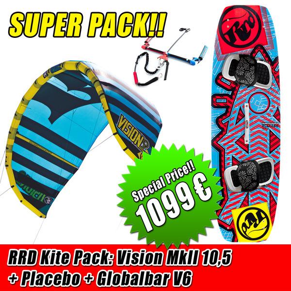 Rrd - KITE PACK VISION 10.5 MK2+PLACEBO + Barra V6 1099€