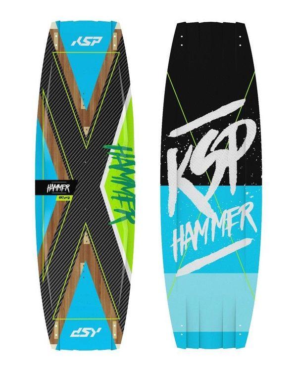 KSP - Tavola twintip Wakestyle Hammer 135-137-139-141 2019 Completa