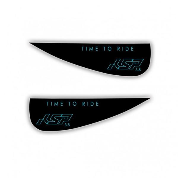 KSP - Coppia Pinnette Wakestyle in G-10 e Policarbonato per Tavole Kite