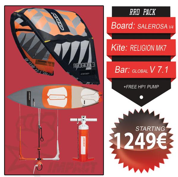 Rrd - KITE WAVE PACK Religion Mk7 + Salerosa V4 5'10 + Global Bar V 7.1 + Free Pump HP1