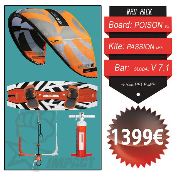 Rrd - KITE PACK Passion Mk8 + Poison Wood V5 + Global Bar V 7.1 + Free Pump HP1