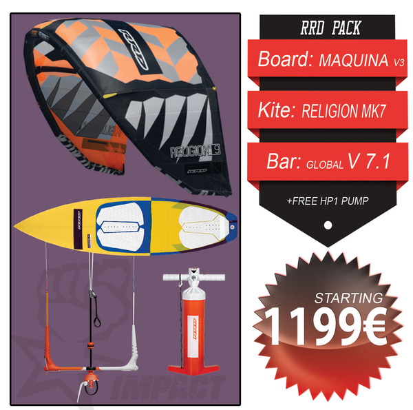 Rrd - KITE WAVE PACK Religion Mk7 + Maquina V3 + Global Bar V 7.1 + Free Pump HP1