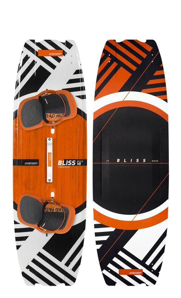 Rrd - BLISS V5 Wood Kiteboard 2018 con RAD PAD - SUPER PRICE!