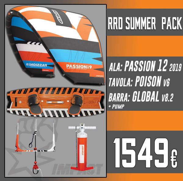 Rrd - KITE PACK Passion Mk10 + Poison V6 + Global Bar V 8.2 + RRD Pump *SPEDIZIONE GRATUITA IN ITALIA*