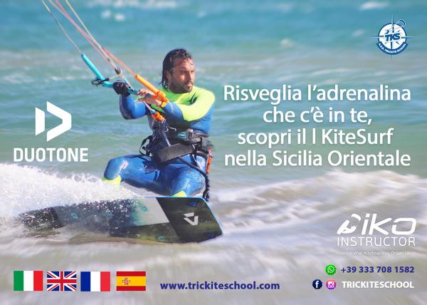 Duotone - Scuola lezioni kitesurf trickite school sicilia orientale