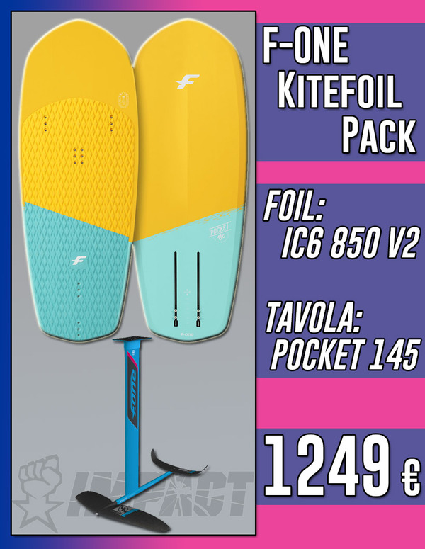F-One - KITEFOIL PACK IC6 850 V2 2020 + Tavola POCKET 145 *SPEDIZIONE GRATUITA IN ITALIA*