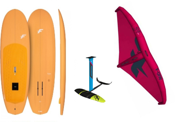 F-One - F-One PACCHETTO WING-FOIL WING SUP FONE ROKET 7.8 128 LT MUST 65CM CON GRAVITY 2200  SWING 4.2