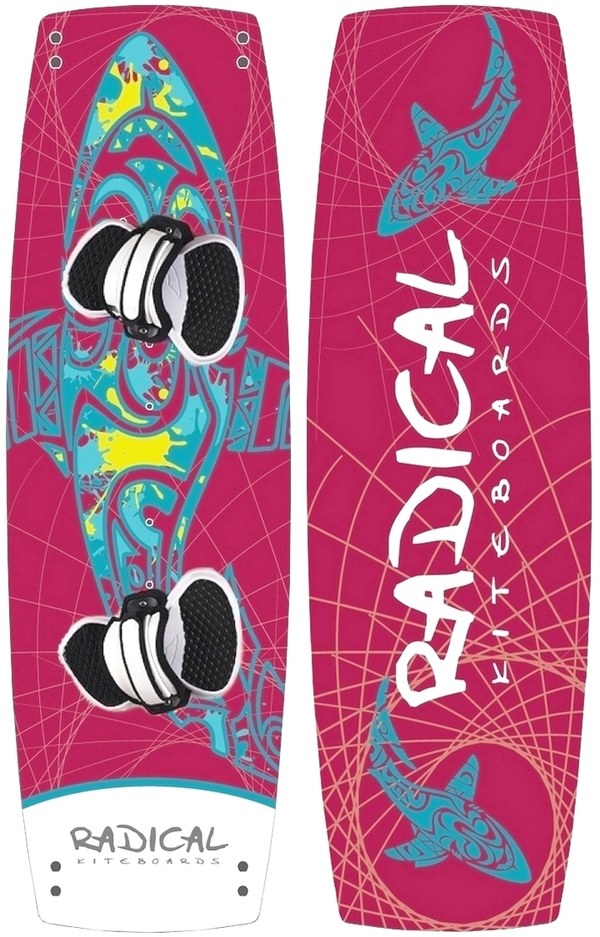 Radical Kiteboards - Kiteboard, Carbon, 135x42, THE SHARK