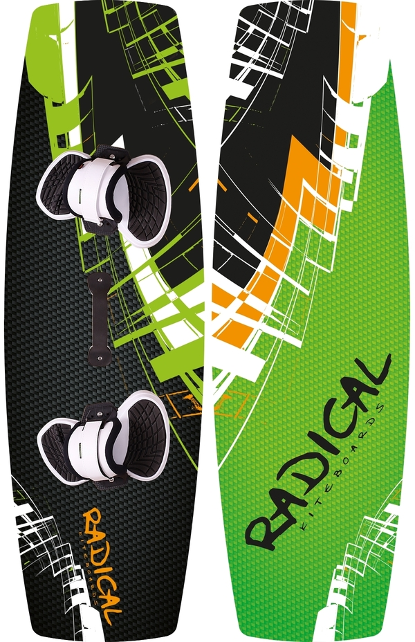 Radical Kiteboards - Allround Kiteboard, CARBON, 135x42cm