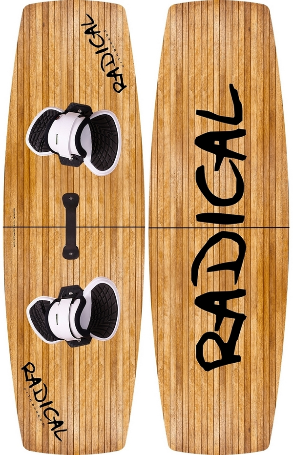 Radical Kiteboards - Split kiteboard (split board / 2 pcs. Kiteboard), 132x41