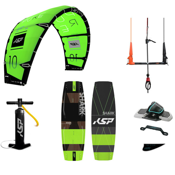 KSP - Pacchetto Freestyle Completo Kite + Barra + Tavola + Pompa