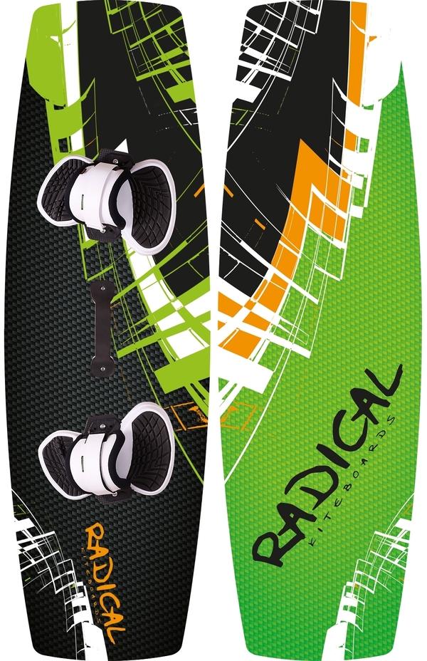Radical Kiteboards - Allround-/ Light-wind Kiteboard 138x44 cm, complete