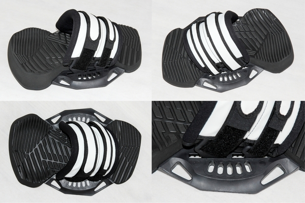 Yeti - COMBO Q4 Kiteboard Binding Set - Footpads + Straps, size M/L