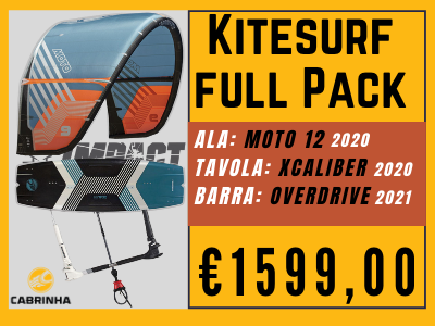 Cabrinha - Kite pack 2020 con Moto + XCaliber + Overdrive Bar