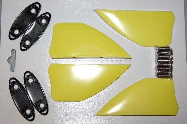 Radical Kiteboards - Fin Set for Twintip, G10