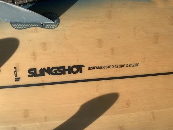 "Slingshot - Screamer 5'4"" X 17 3/4"" X 25/16"""