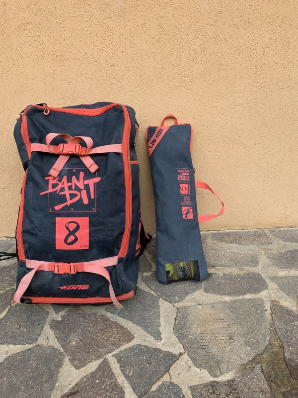 F-One - Ala Bandit 8mq + Barra Linx Tutto 2019